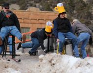 Winter Festival Bar Stool Racing